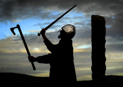 Guthren Thorwulfsson, a viking historical renactor, at Wigtown Book Festival