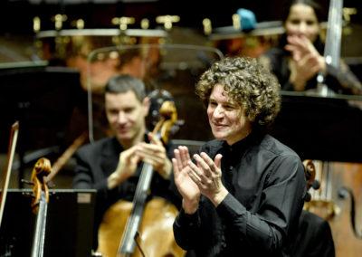Robin Ticciati, principal conductor of the Scottish Chamber Orchestra at Dvorak's New World by Scottish Chamber Orchestra, at Dvorak's New World performance