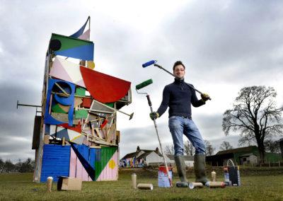 """Rural Mural"" launch at Spring Fling art festival"