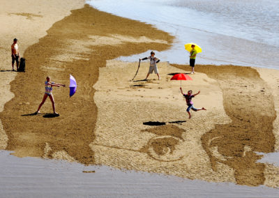 Schubert Sand Drawing at East Neuk Festival launch
