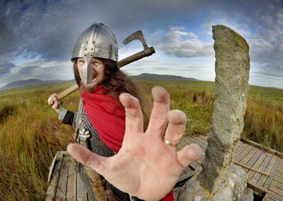 Viking historic re-enactor Guthrum Thorwulfsson at Wigtown Book Festival